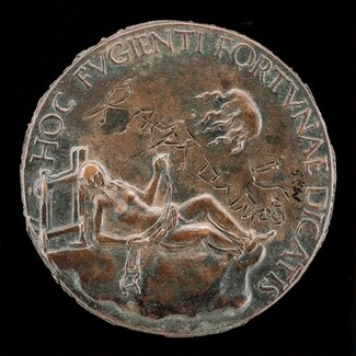 Female Figure Holding a Bridle [reverse]