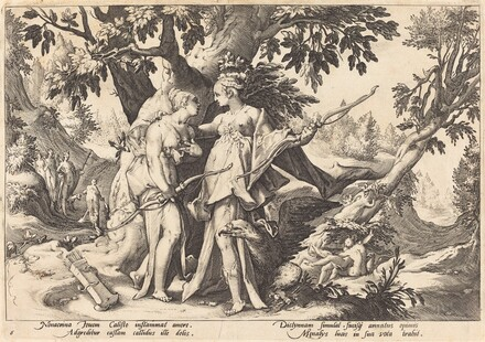 Jupiter in the Disguise of Diana Seduces Callisto
