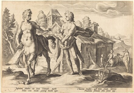 Apollo Entrusting Chiron with the Education of Asclepius