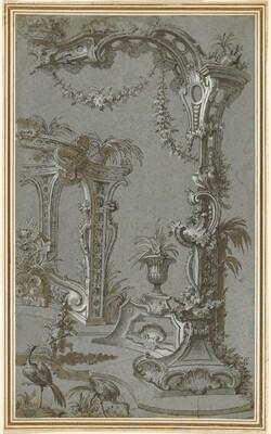 A Rococo Garden Trellis and Gazebo