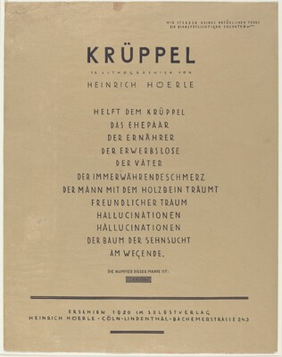 Krüppel (Cripples)