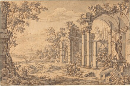 Landscape with a Draftsman among Ancient Ruins