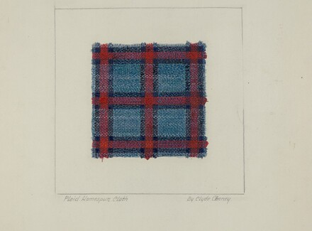 Plaid Homespun Cloth
