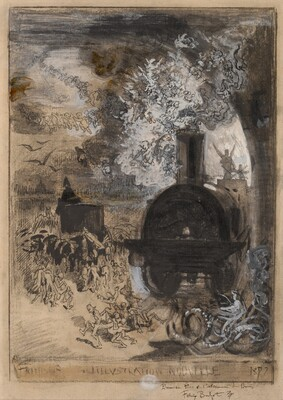 Frontispiece for L'Illustration Nouvelle: The Burial of the Burin
