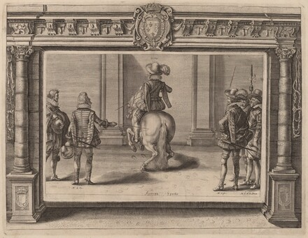 Louis XIII on Horseback, Receiving Instruction