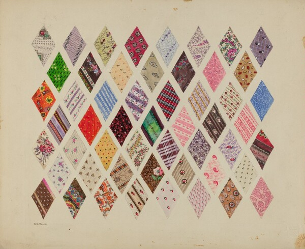 Patches of Diamond Patchwork Quilt