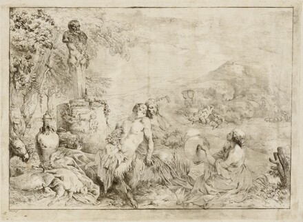 Landscape with a Satyr Family and Classical Sculpture