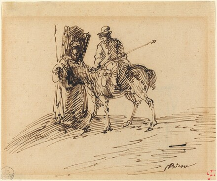 Horseman with Peasant