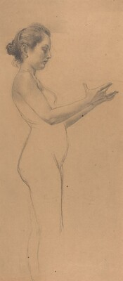 Female Nude with a Platter