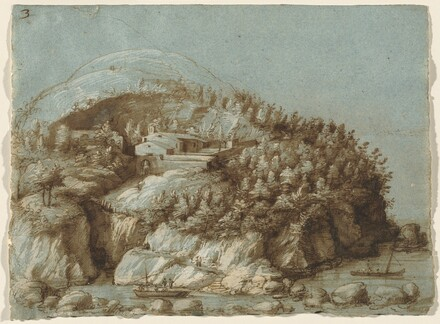 Hilly Landscape with Ships