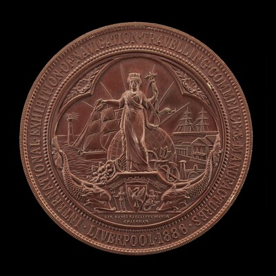 Commemoration of the Liverpool Exhibition of 1886 [reverse]