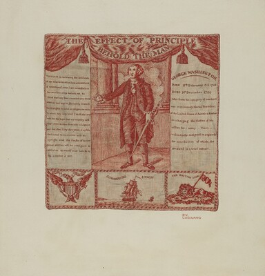 Printed Textile of George Washington