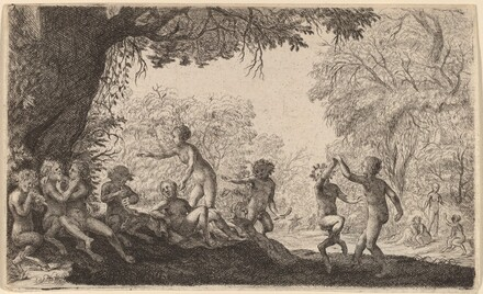Bacchanal with a Dancing Couple on the Right