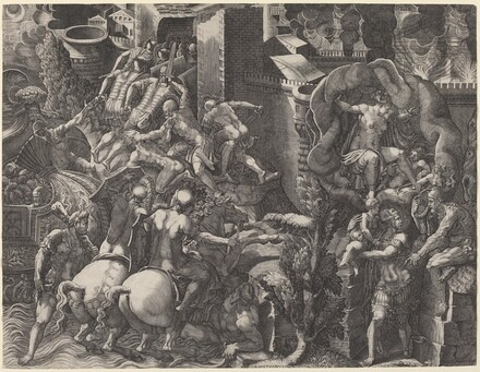 The Fall of Troy and the Escape of Aeneas