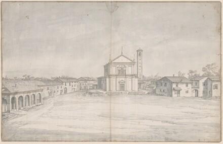 A Town Center with a Church