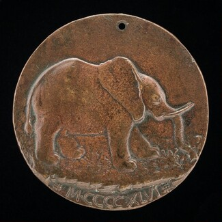 The Malatesta Elephant in a Meadow [reverse]
