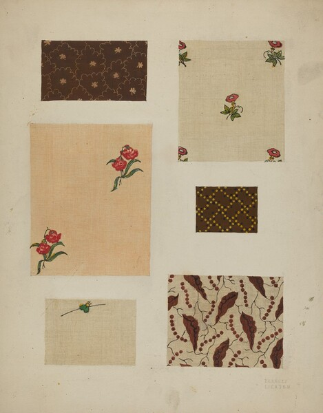 Materials from Patchwork Bedspread