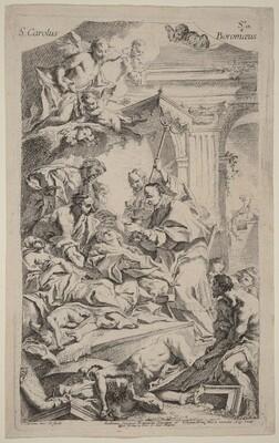 San Carlo Borromeo Giving Last Communion to Victims of the Plague
