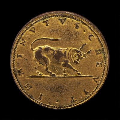 Charging Bull with Cut Horns [reverse]