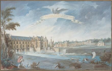 Veüe Et perspective du Chateau de Chenonceaux