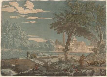 Heroic Landscape with Cart and Goatherd, with San Giorgio Maggiore in the Background