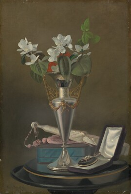 Still Life with Fan and Pendant