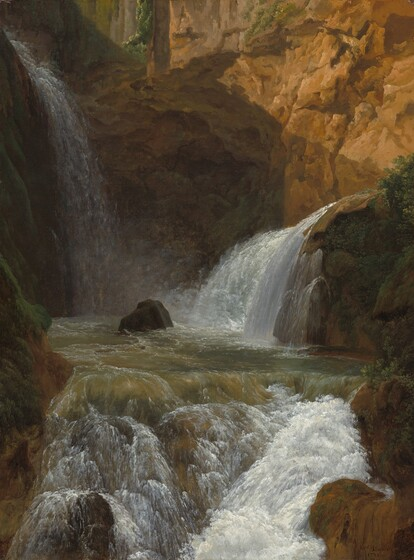 Jean-Joseph-Xavier Bidauld, View of the Waterfalls at Tivoli, 1788