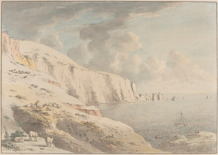 View of the Needles, and White Cliffs Taken from Allum Bay