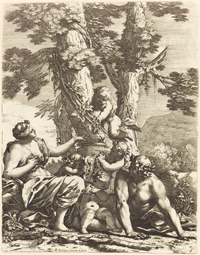 Bacchanal with Seated Bacchante