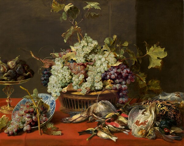 Still Life with Grapes and Game