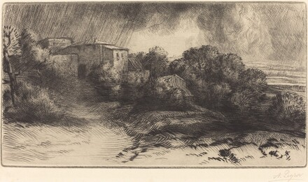 La Ferme de Brieux (Effect d'orage) (Farm at Brieux in a Storm)