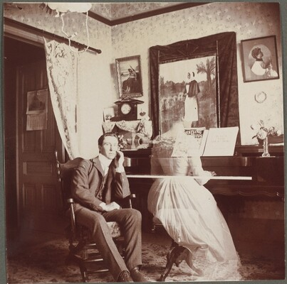 Untitled (Man with female ghost at the piano)