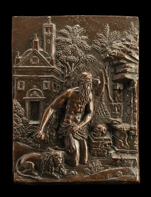 Saint Jerome in Penitence before a Rustic Church