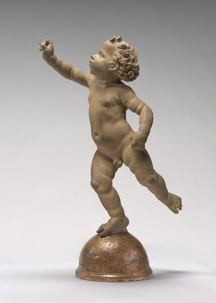 Putto Poised on a Globe