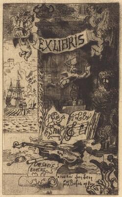 Ex-libris de Léon Lerey (Ex-libris of Leon Lerey)