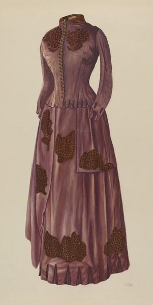 Brown Silk Afternoon Dress