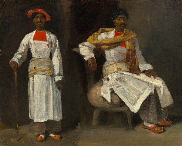 Two Studies of an Indian from Calcutta, Seated and Standing