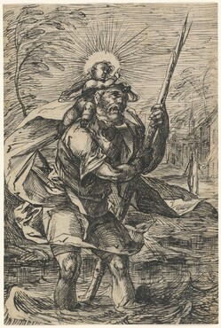 Saint Christopher (recto)