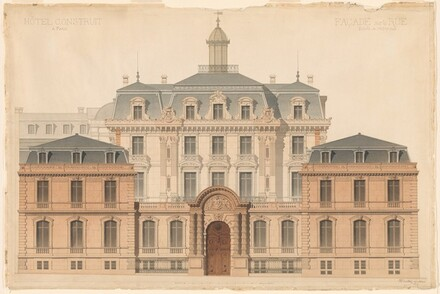 Presentation Drawing of the Hôtel de Camondo