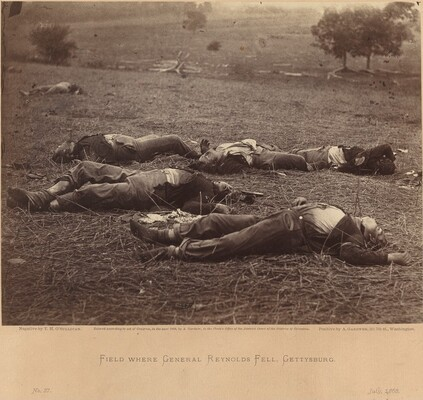 Field Where General Reynolds Fell, Gettysburg, July 5, 1863
