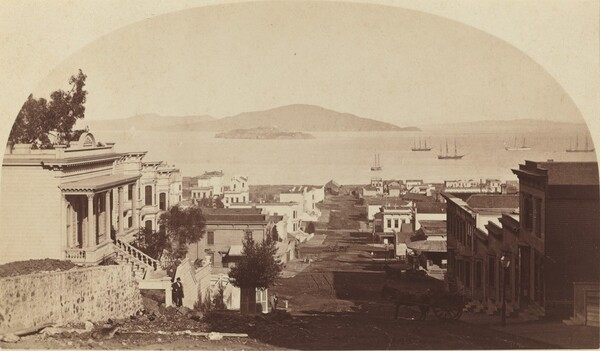 Alcatraz Island and San Francisco Bay, Looking North
