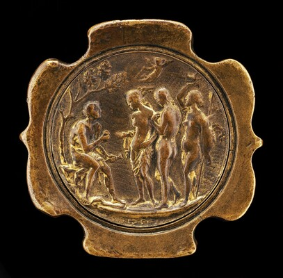 Sword Pommel with inset plaquette of The Judgment of Paris [detachable obverse of pommel]