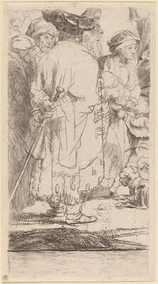 The Man with a Cane (Fragment from the Hundred Guilder Print)