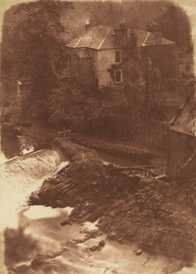 Colinton Manse and weir, with part of the old mill on the right