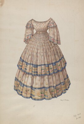 Dress with Hoop Skirt