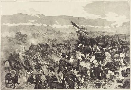 Bataille de Plevna.  Le 30 Juillet, Attaque des Hauteurs...