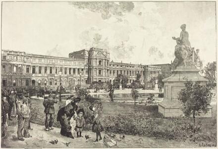 Les ruins du Palais des Tuilleries avant leur démolition