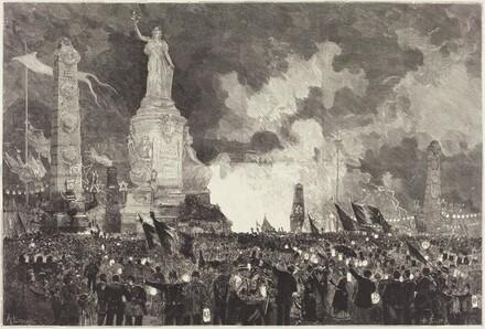 14 Juillet.  Illumination de la Place de la République
