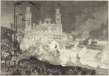 14 Juillet.  Illumination du Palais du Trocadéro