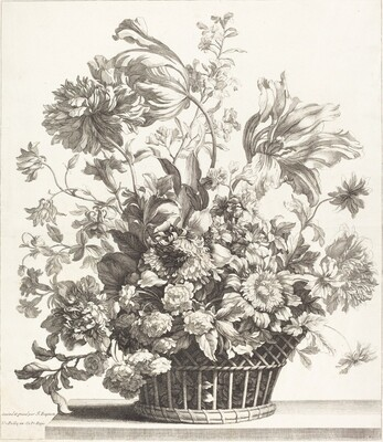 A Basket of Spring Flowers